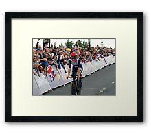 Elizabeth Armitstead Team GB - Womens Time Trial - London 2012 Framed Print