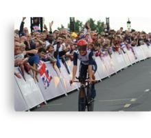 Elizabeth Armitstead Team GB - Womens Time Trial - London 2012 Canvas Print