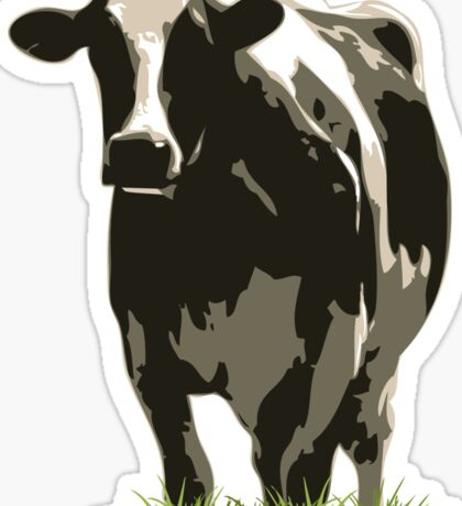 Cow in a Field 02 Sticker