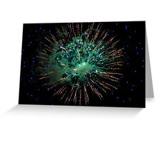 Green and Gold Firework Greeting Card