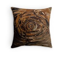 Swirling Brown Throw Pillow