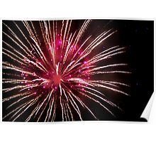 Red and Gold Firework Explosion Poster