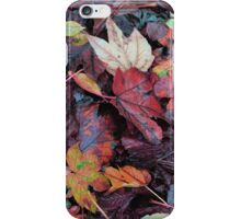 Autumn leaves 2 hue change iPhone Case/Skin