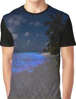 Fluorescent plankton in the Maldives - Indian Ocean Graphic T-Shirt