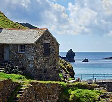 At The Edge Of The Sea ~ Mullion Cove by Susie Peek