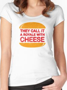 Royale with Cheese (aged look) Women's Fitted Scoop T-Shirt
