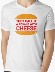 Royale with Cheese (aged look) Mens V-Neck T-Shirt