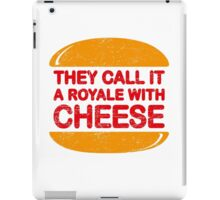 Royale with Cheese (aged look) iPad Case/Skin