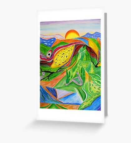 Nature- Biosphere Greeting Card
