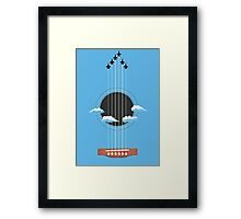 Sky Guitar Framed Print