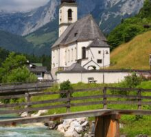 St. Sebastian Church, Ramsau Bei Berchtesgaden Sticker