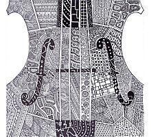 Zentagle Violin or Cello Music Photographic Print