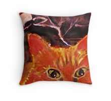 Spooky out here , Mom,!!  watercolor Throw Pillow