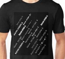 bacon strips fonts Unisex T-Shirt