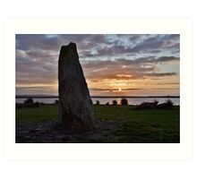 Galway Famine Memorial, Ireland Art Print