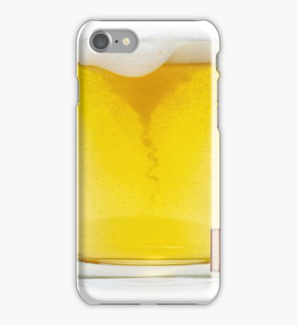 A cool refreshing pint of lager! iPhone Case/Skin