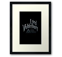 Lord Voldemort and the Deathly Hallows Framed Print