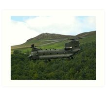 Chinook helicopter Art Print
