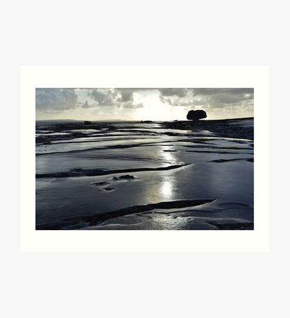 After the rain, the Burren in bright sunlight, Co Clare, Ireland Art Print