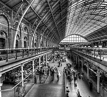 London St Pancras Station BW by Yhun Suarez
