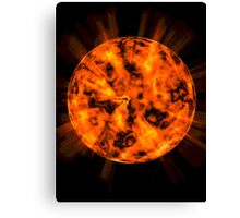 Explosion on the planet Canvas Print