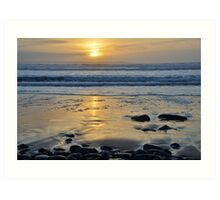 Atlantic Sunset of County Glare, Ireland Art Print