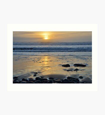Atlantic Sunset of County Glare, Ireland Art Print