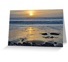 Atlantic Sunset of County Glare, Ireland Greeting Card