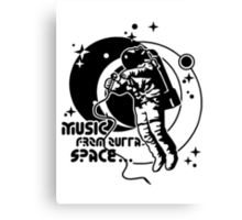 Music from outta Space Canvas Print