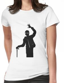 Man Waving Womens Fitted T-Shirt