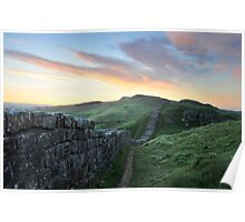 Sunrise over Hadrian's Wall at Caw Gap Poster