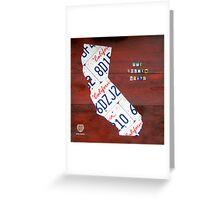 California License Plate Map Greeting Card