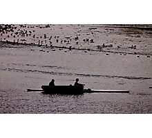 Two Men in a Boat Photographic Print
