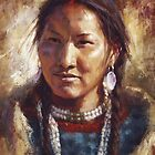Beatury and Grace, Ute, Native American Art, James Ayers Studios by JamesAyers