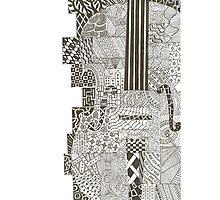 Violin / Cello Scroll Zentangle Drawing Photographic Print