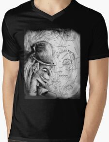 The Mad Hatter Mens V-Neck T-Shirt