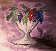 Grapes, watercolor by Anna  Lewis