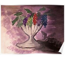 Grapes, watercolor Poster