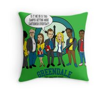 Greendale the Animated Series Throw Pillow