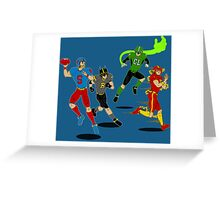 Superhero Football Greeting Card