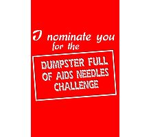 I nominate you for the dumpster full of aids needles challenge Photographic Print