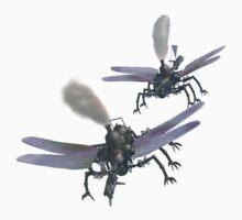 Aerial battle between two dragonfly-class flying machines. Kids Clothes