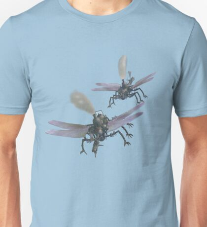 Aerial battle between two dragonfly-class flying machines. Unisex T-Shirt