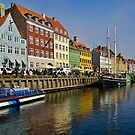 The old port of Nyhavn by Andrea Rapisarda