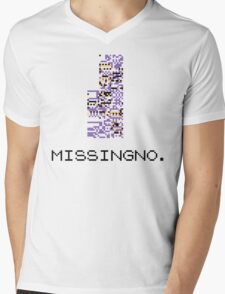 MissingNo Pixel Style - Pokemon Gameboy - Retro game fan shirt!  Mens V-Neck T-Shirt
