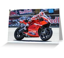 Nicky Hayden at laguna seca 2010 Greeting Card