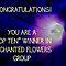 Banner for Top Ten Winner - Enchanted Flowers