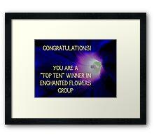 Banner - Enchanted Flowers Top Ten Winner Framed Print