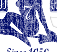 Coed Naked Quidditch (Vintage Blue) Sticker