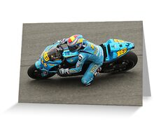 Alvaro Bautista at laguna seca 2010 Greeting Card